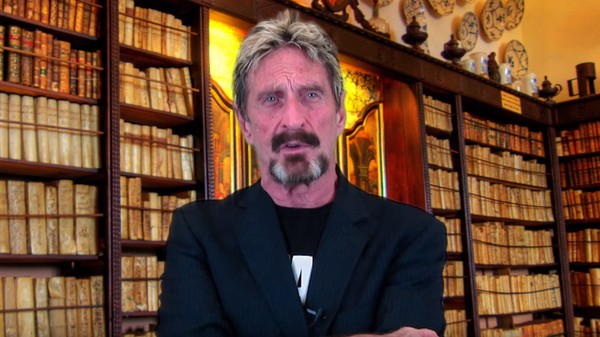 John McAfee Launches Presidential Bid With Surprisingly Low Key Video