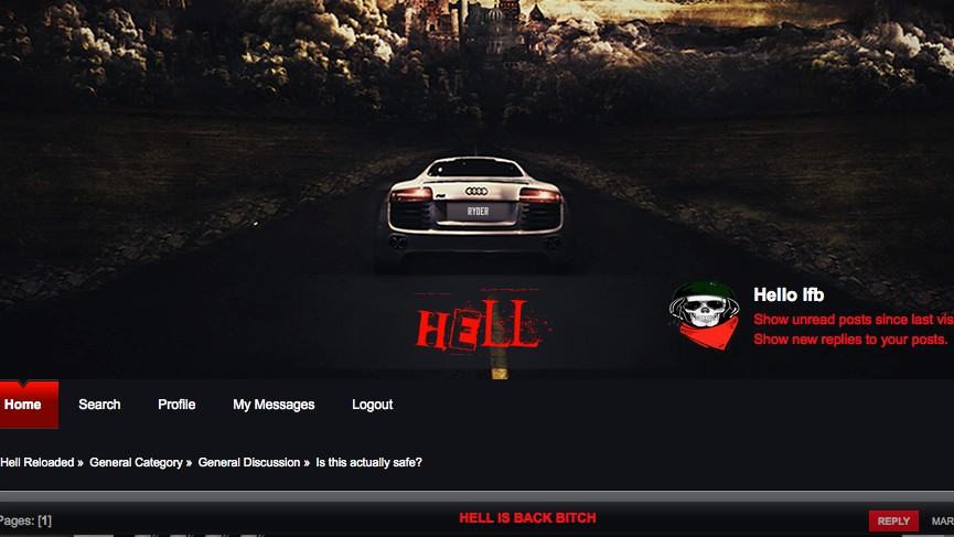 The Dark Web Hacking Forum 'Hell' Is Back Online
