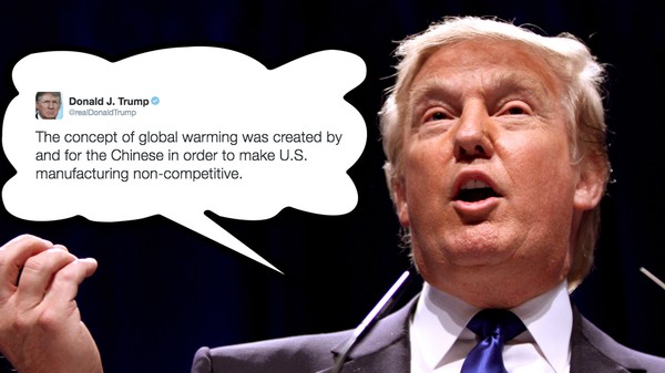 Trump's Campaign Is Trying to Cover Up His Lies About Climate Change