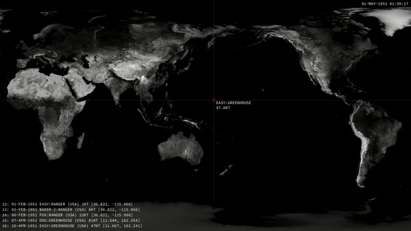 This Map Visualizes Every Nuclear Detonation on Earth