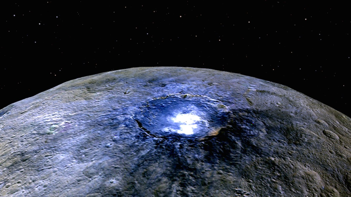 These Flyover Images Reveal New Details  About Ceres's Mysterious Bright Spots