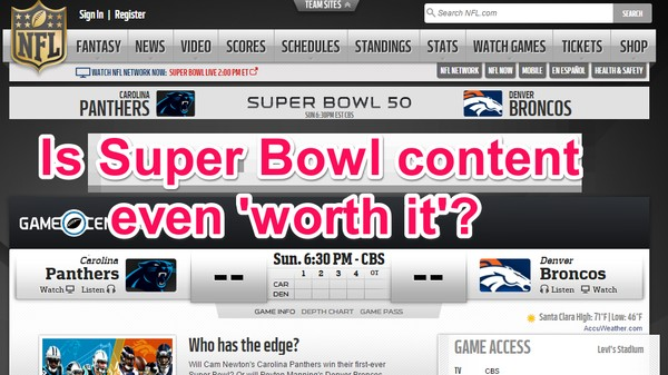 The Super Bowl Is the Last Event That Doesn't Need Content Farms