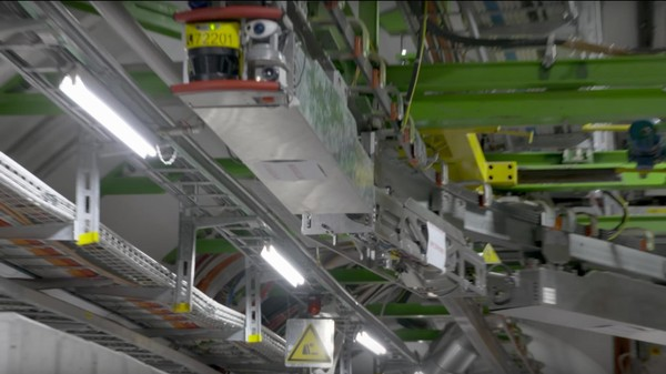 Watch the Robot That Patrols the Large Hadron Collider