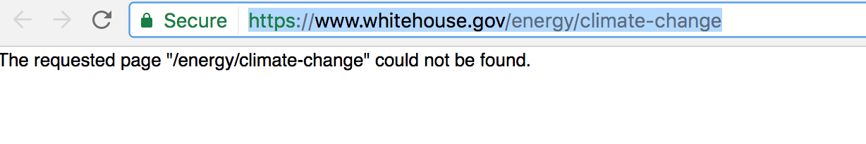 All References to 'Climate Change' Deleted From White House ...