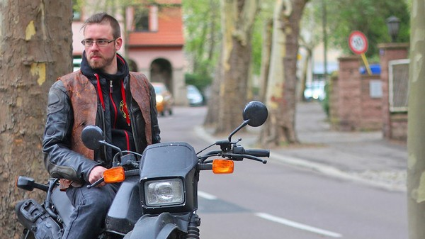 A Smart, Mood-Sensing Jacket Made of Kombucha, Because That's What Bikers Need