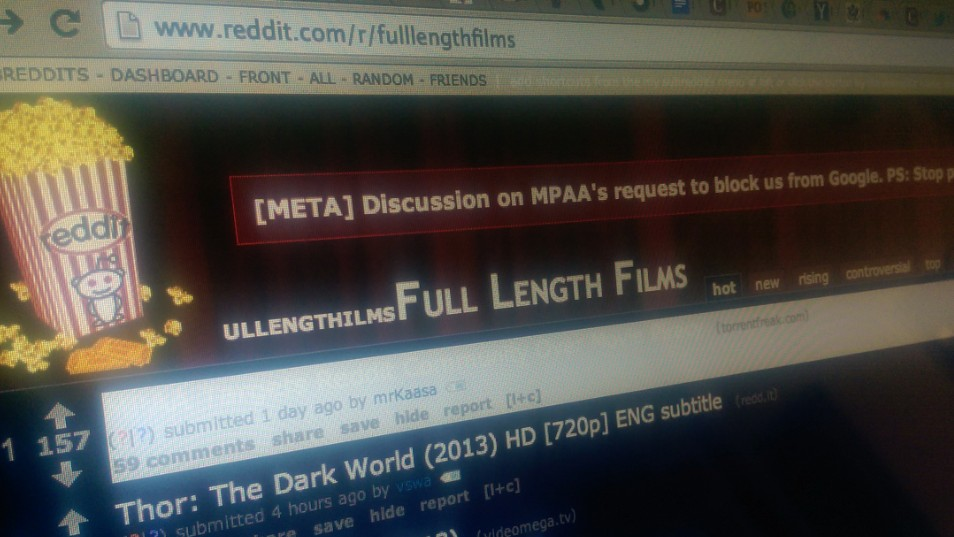 The MPAA Is Trying (and Failing) to Take Down an Entire Subreddit