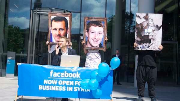 Protesters Want Facebook to Return Money From Bashar Al-Assad's Election Ads