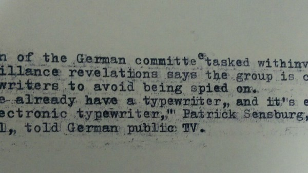 I Used a Typewriter to Avoid the NSA, Just Like Germany Wants to