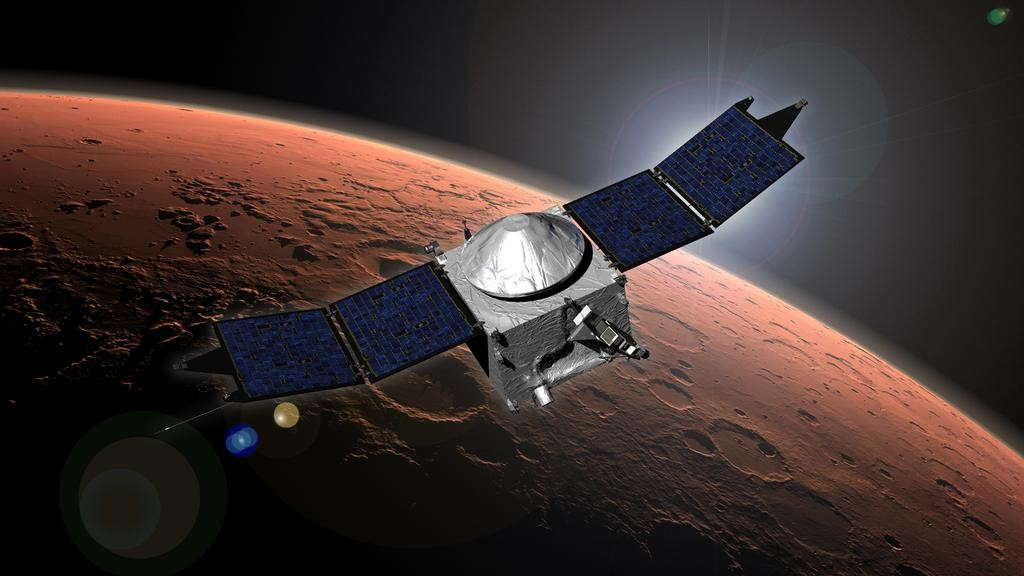 NASA's Atmosphere-Monitoring Probe Joins the Party of Orbiters Around Mars