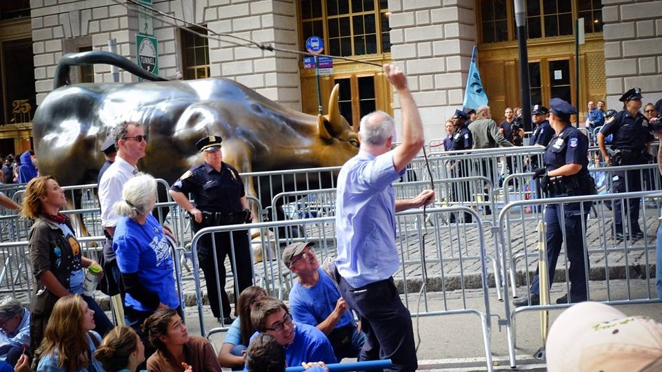 At 'Flood Wall Street', NYPD Arrested a Polar Bear and Burst the Carbon Bubble