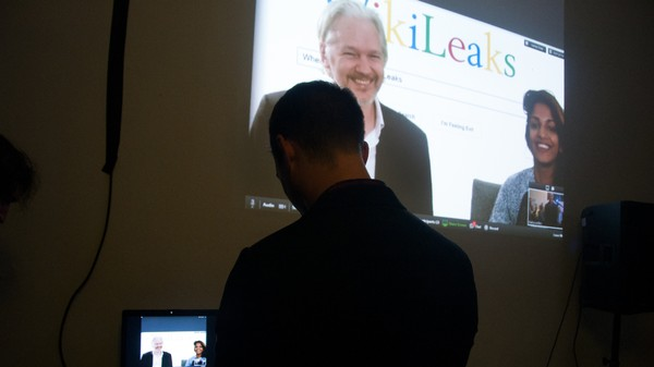 At Julian Assange's Book Party, A Mix of Energy Drinks, MIA, and Google Bashing