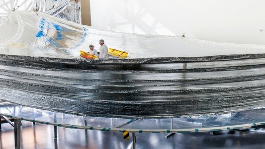 This Sunshield Will Keep the World's Most Powerful Space Telescope from Frying