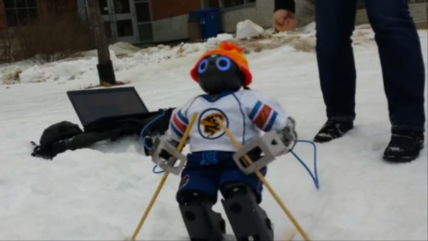 Jennifer the Humanoid Robot Learns How to Ski