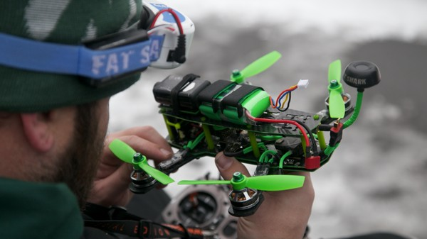 Drone Racing, 'Star Wars'-Style, in the Snowy Bronx