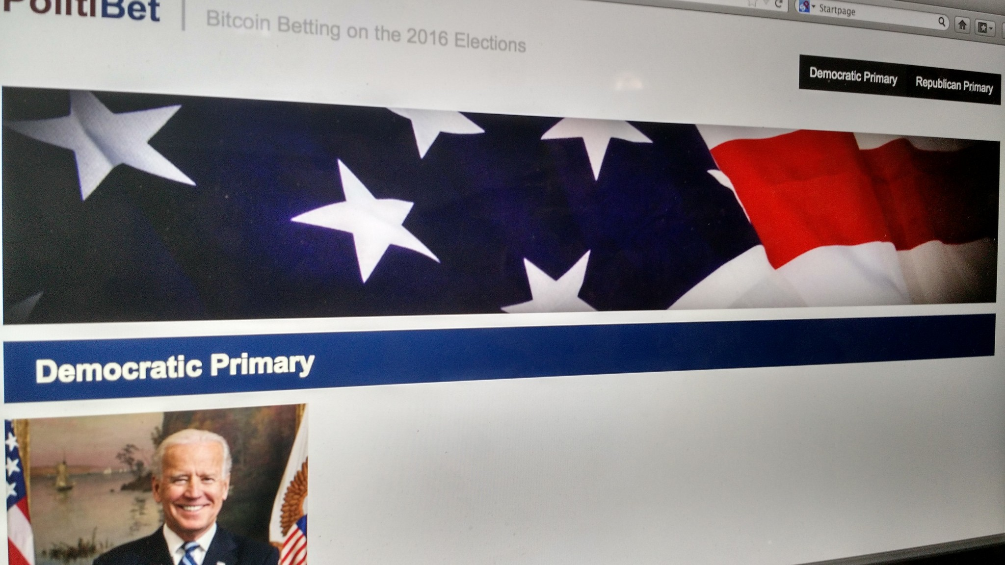This New Deep Web Site Is Already Taking Bets on the 2016 US Election