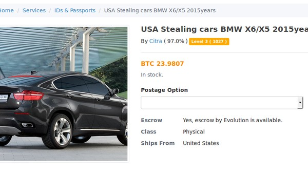 Someone on the Dark Net Is Offering to Steal Cars on Demand