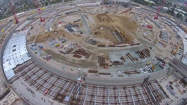 Apple's New Headquarters Is Coming Along Quite Nicely, Per New Drone Footage