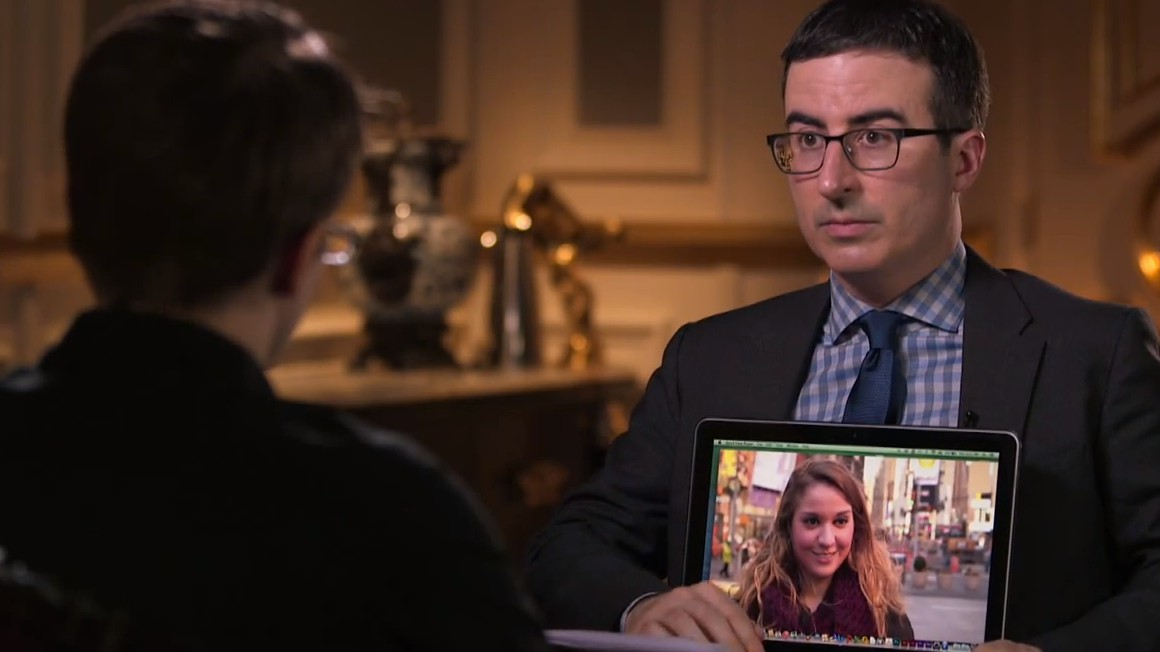 John Oliver to Edward Snowden: 'No One Knows Who the Fuck You Are'