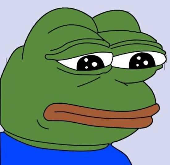 Image result for pepe the frog sad