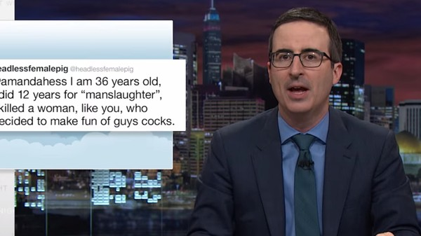 John Oliver: Got a 'White Penis?' You Won't Be Harassed Online