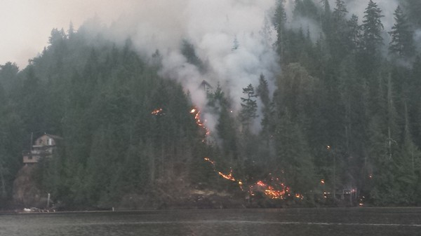 The Wettest Place in North America Is Burning
