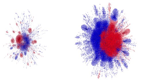 These Algorithmic Visualisations of Twitter Controversies Look Like Fireworks