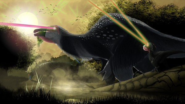 Adding Lasers to Dinosaur Art Is Paleontological Brilliance