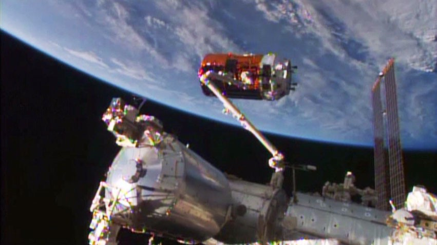 Japan's Cargo Ship Reaches the International Space Station