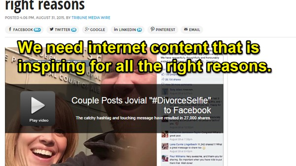 How Content Farms Exploit Uplifting Memes Like #DivorceSelfie