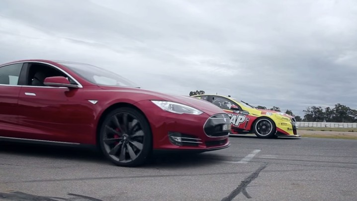 Watch a Tesla Model S Go Up Against an Actual Race Car