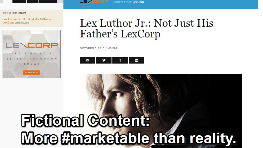 With Lex Luthor Profile, Content Farms Are Moving Into Fictional Content