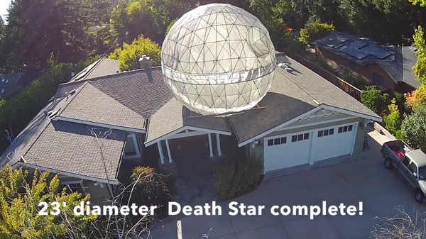 Family Gives in to Dark Side, Builds Giant Death Star on Top of Home