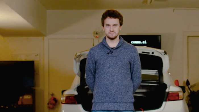 Watch an Infamous Hacker Take His DIY Self-Driving Car for a Test Drive