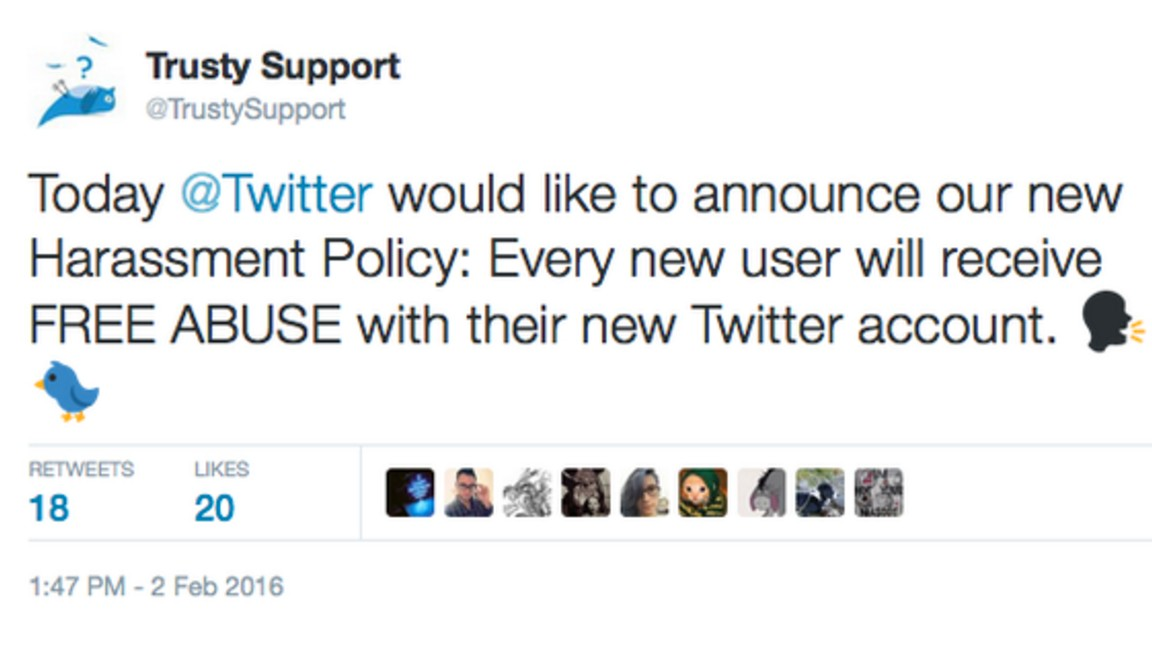 Parody Account Mocks Twitter for Not Suspending Harassers, Gets Suspended