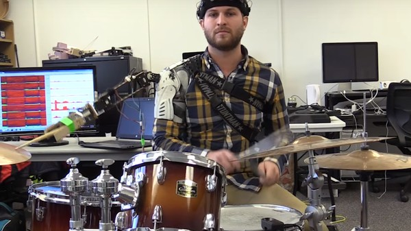 This Drummer Has Three Arms—Two Human, One Robot