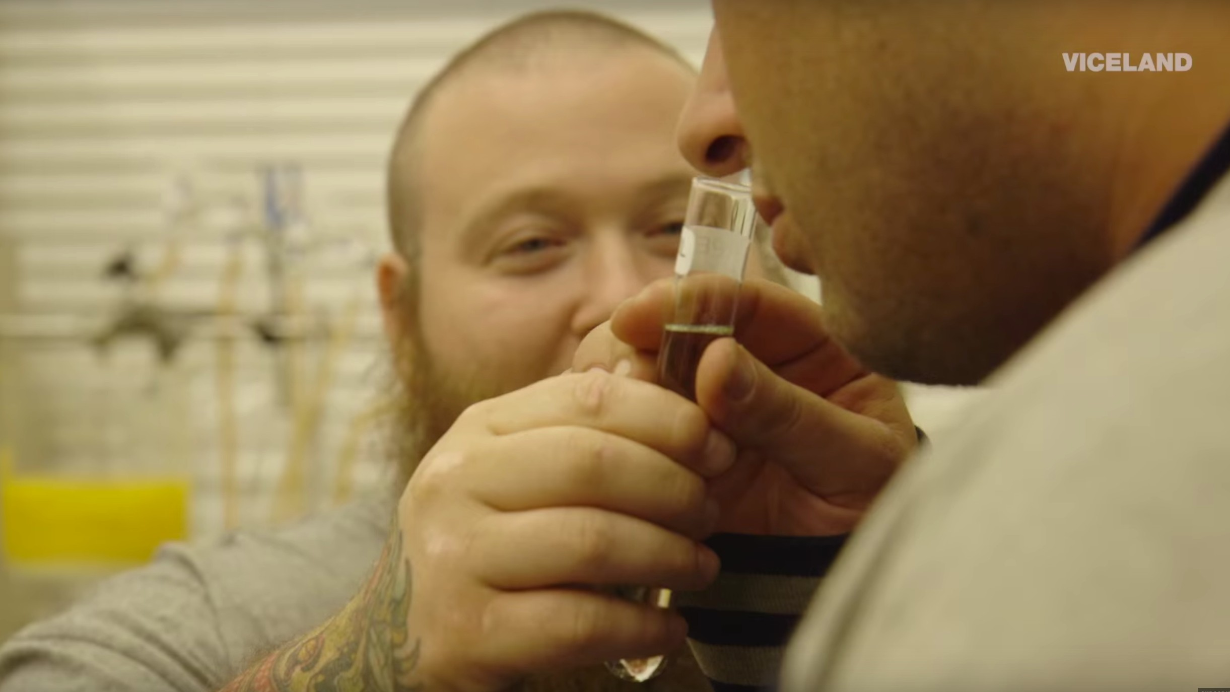 Here's Action Bronson at a High Tech Cannabis Lab, Whipping Up Dabs