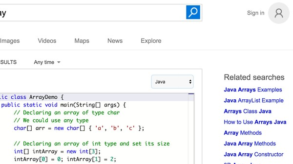 Bing's Programming Search Tool Is Just Whatever