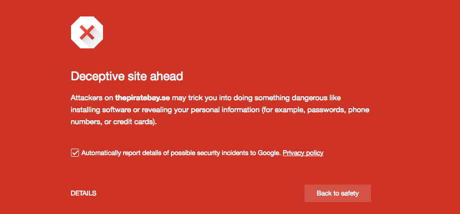 Why your browser is warning you about pirate bay motherboard