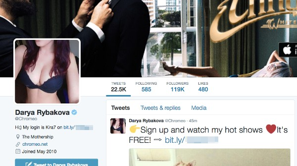 Porn Spambots Have Taken Over At Least 2,500 Twitter Accounts In Two Weeks