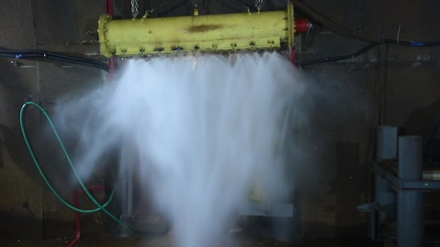 This Machine Creates a Relaxing Shower for Violent Tunnel Explosions
