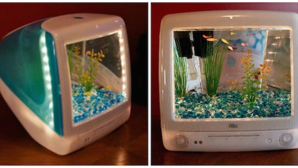 Where Do Old iMacs Go Anyway? Right, They're Upgraded Into Aquariums