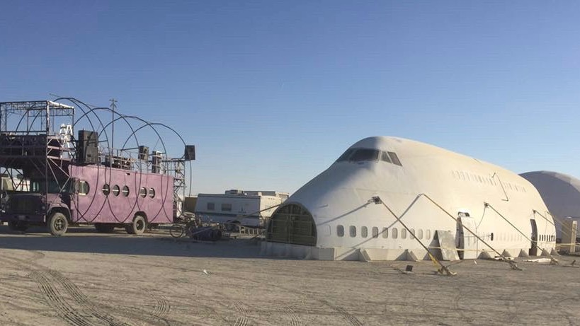 Check Your Baggage and Hop On Burning Man's Airplane Art Car