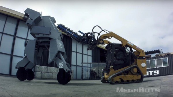 Watch a Giant Robotic Suit Get Demolished