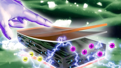 Nanogenerator Harvests Swipes To Power LCD Screens