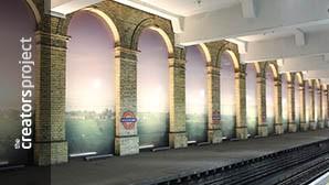 Een geheime NSA-basis siert nu de binnenkant van dit metrostation in Londen