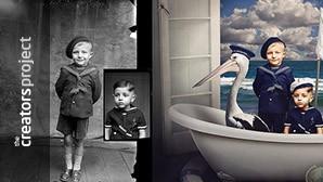 Naoorlogse glasnegatieven herleven als sprookjesachtige portretten