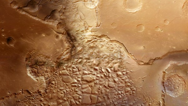 Take a 3D Ride Through Martian 'Chaos Terrain'