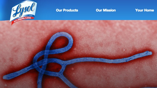 Lysol Bought the Top Google Search Result for 'Ebola'