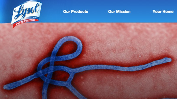 ​Lysol Bought the Top Google Search Result for 'Ebola'