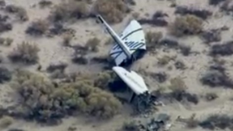 Virgin Galactic Spaceship Destroyed in Test Flight Mishap